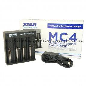XTAR MC4 - Chargeur d'accu 4 slots