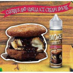 Churros and vanilla ice cream smore - SMORES ADDICT